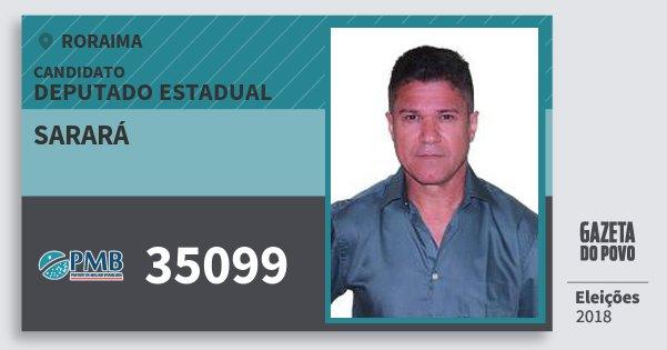 Santinho Sarará 35099 (PMB) Deputado Estadual | Roraima | Eleições 2018