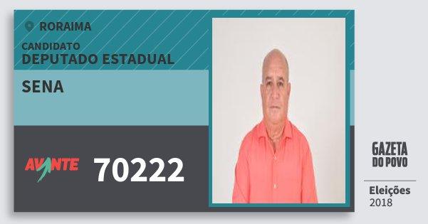 Santinho Sena 70222 (AVANTE) Deputado Estadual | Roraima | Eleições 2018