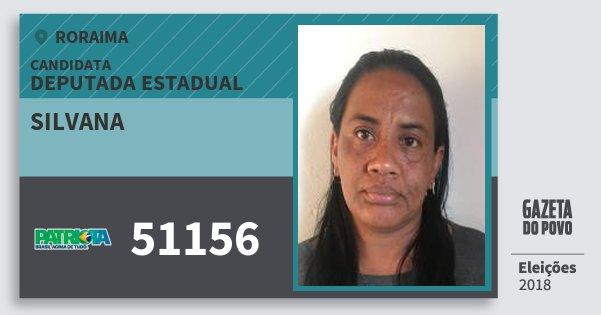 Santinho Silvana 51156 (PATRI) Deputada Estadual | Roraima | Eleições 2018