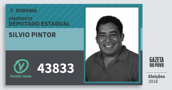 Santinho Silvio Pintor 43833 (PV) Deputado Estadual | Roraima | Eleições 2018