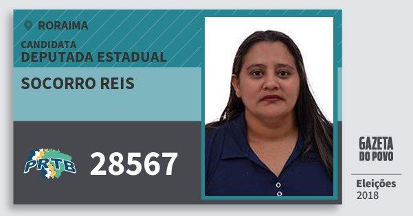 Santinho Socorro Reis 28567 (PRTB) Deputada Estadual | Roraima | Eleições 2018
