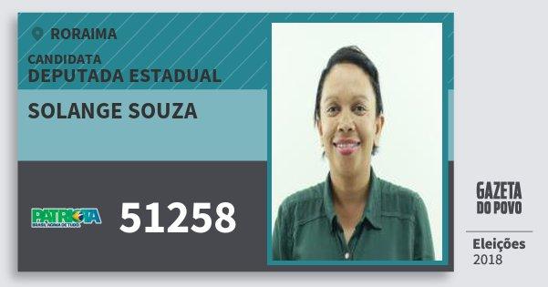Santinho Solange Souza 51258 (PATRI) Deputada Estadual | Roraima | Eleições 2018