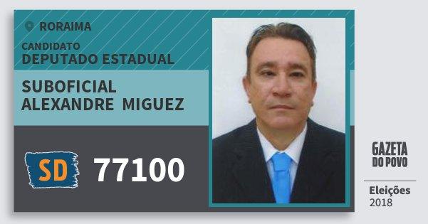 Santinho Suboficial Alexandre  Miguez 77100 (SOLIDARIEDADE) Deputado Estadual | Roraima | Eleições 2018