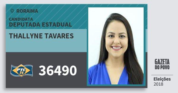 Santinho Thallyne Tavares 36490 (PTC) Deputada Estadual | Roraima | Eleições 2018
