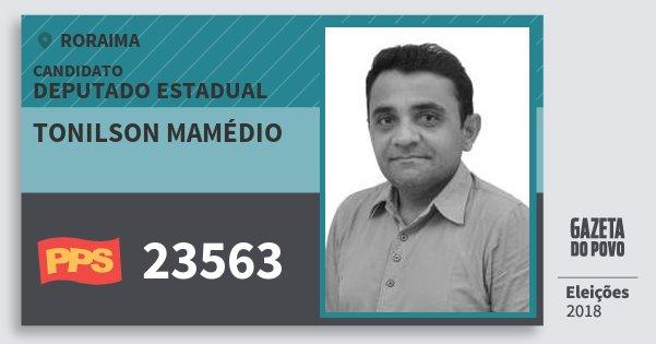 Santinho Tonilson Mamédio 23563 (PPS) Deputado Estadual | Roraima | Eleições 2018