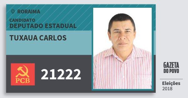 Santinho Tuxaua Carlos 21222 (PCB) Deputado Estadual | Roraima | Eleições 2018