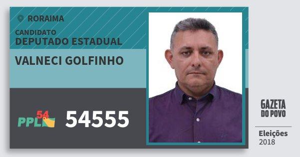 Santinho Valneci Golfinho 54555 (PPL) Deputado Estadual | Roraima | Eleições 2018