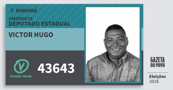 Santinho Victor Hugo 43643 (PV) Deputado Estadual | Roraima | Eleições 2018