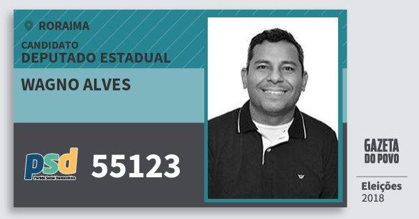 Santinho Wagno Alves 55123 (PSD) Deputado Estadual | Roraima | Eleições 2018