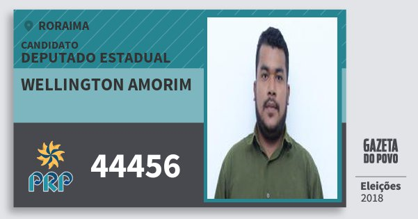 Santinho Wellington Amorim 44456 (PRP) Deputado Estadual | Roraima | Eleições 2018