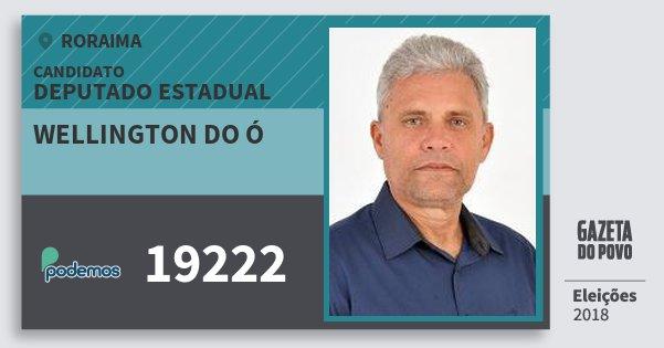 Santinho Wellington do Ó 19222 (PODE) Deputado Estadual   Roraima   Eleições 2018