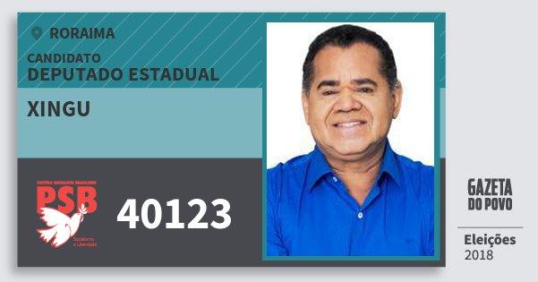 Santinho Xingu 40123 (PSB) Deputado Estadual | Roraima | Eleições 2018