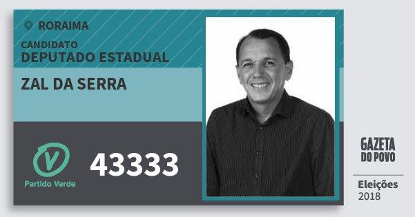 Santinho Zal da Serra 43333 (PV) Deputado Estadual | Roraima | Eleições 2018