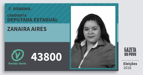Santinho Zanaira Aires 43800 (PV) Deputada Estadual | Roraima | Eleições 2018