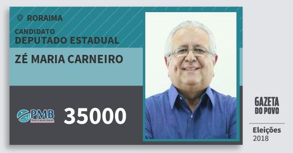 Santinho Zé Maria Carneiro 35000 (PMB) Deputado Estadual | Roraima | Eleições 2018