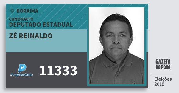Santinho Zé Reinaldo 11333 (PP) Deputado Estadual | Roraima | Eleições 2018