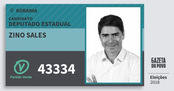Santinho Zino Sales 43334 (PV) Deputado Estadual | Roraima | Eleições 2018