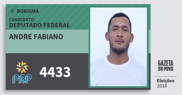 Santinho Andre Fabiano 4433 (PRP) Deputado Federal | Roraima | Eleições 2018