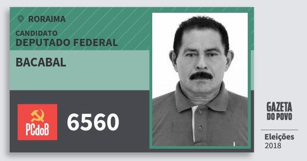 Santinho Bacabal 6560 (PC do B) Deputado Federal | Roraima | Eleições 2018