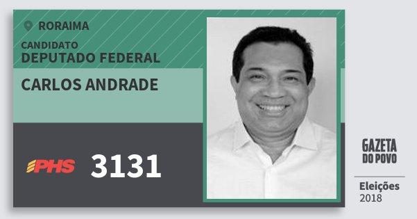 Santinho Carlos Andrade 3131 (PHS) Deputado Federal | Roraima | Eleições 2018