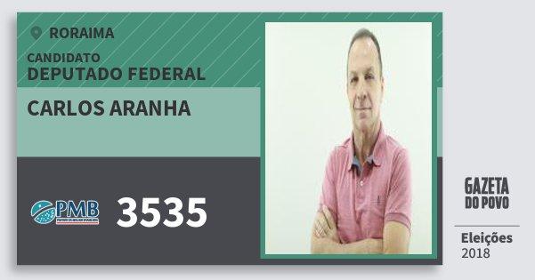 Santinho Carlos Aranha 3535 (PMB) Deputado Federal | Roraima | Eleições 2018