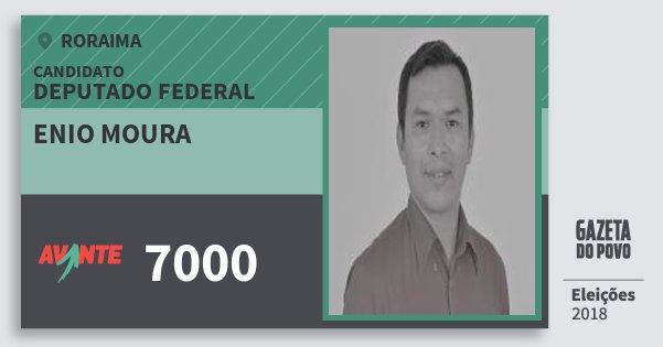 Santinho Enio Moura 7000 (AVANTE) Deputado Federal | Roraima | Eleições 2018