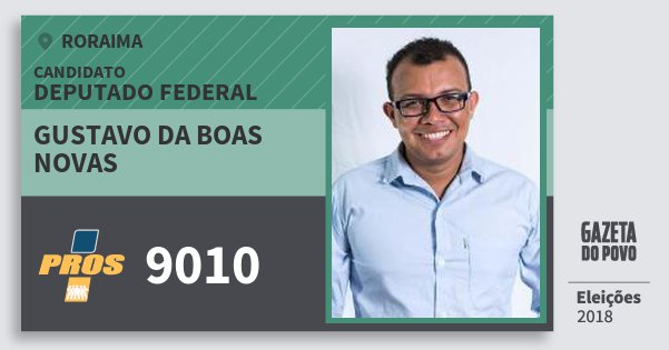 Santinho Gustavo da Boas Novas 9010 (PROS) Deputado Federal | Roraima | Eleições 2018