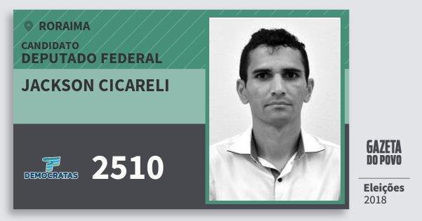 Santinho Jackson Cicareli 2510 (DEM) Deputado Federal | Roraima | Eleições 2018