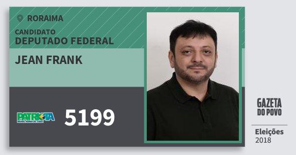 Santinho Jean Frank 5199 (PATRI) Deputado Federal | Roraima | Eleições 2018