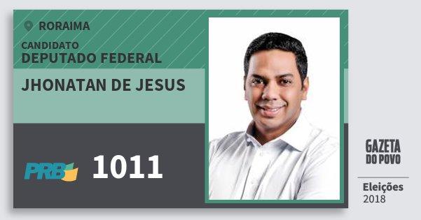 Santinho Jhonatan de Jesus 1011 (PRB) Deputado Federal   Roraima   Eleições 2018