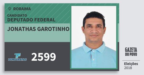 Santinho Jonathas Garotinho 2599 (DEM) Deputado Federal | Roraima | Eleições 2018