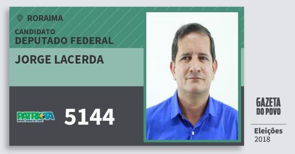 Santinho Jorge Lacerda 5144 (PATRI) Deputado Federal | Roraima | Eleições 2018