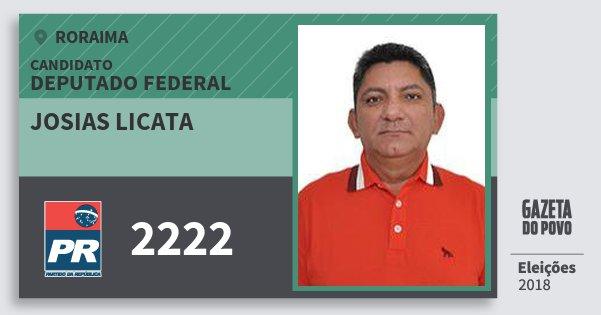 Santinho Josias Licata 2222 (PR) Deputado Federal   Roraima   Eleições 2018
