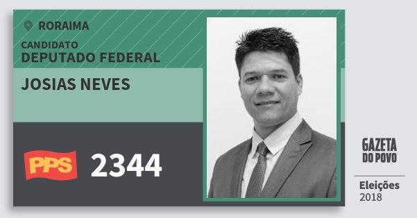 Santinho Josias Neves 2344 (PPS) Deputado Federal | Roraima | Eleições 2018