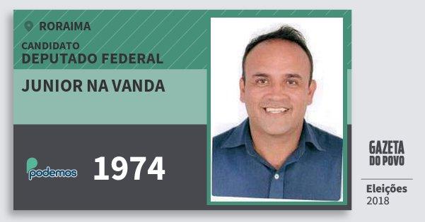 Santinho Junior na Vanda 1974 (PODE) Deputado Federal | Roraima | Eleições 2018