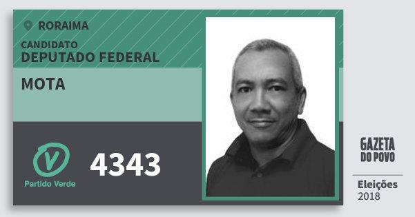 Santinho Mota 4343 (PV) Deputado Federal | Roraima | Eleições 2018