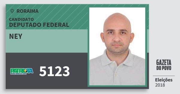 Santinho Ney 5123 (PATRI) Deputado Federal | Roraima | Eleições 2018