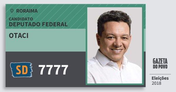 Santinho Otaci 7777 (SOLIDARIEDADE) Deputado Federal | Roraima | Eleições 2018