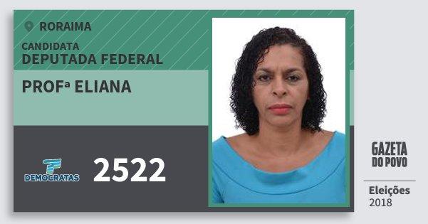 Santinho Profª Eliana 2522 (DEM) Deputada Federal | Roraima | Eleições 2018