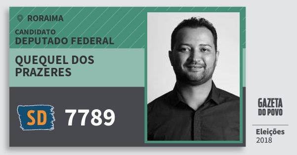 Santinho Quequel dos Prazeres 7789 (SOLIDARIEDADE) Deputado Federal | Roraima | Eleições 2018