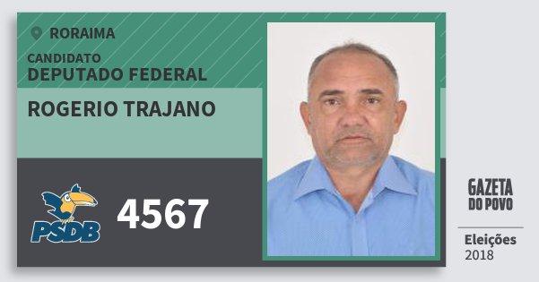 Santinho Rogerio Trajano 4567 (PSDB) Deputado Federal | Roraima | Eleições 2018