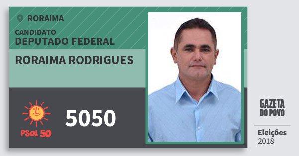 Santinho Roraima Rodrigues 5050 (PSOL) Deputado Federal | Roraima | Eleições 2018