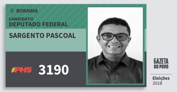 Santinho Sargento Pascoal 3190 (PHS) Deputado Federal | Roraima | Eleições 2018