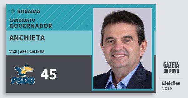 Santinho Anchieta 45 (PSDB) Governador | Roraima | Eleições 2018