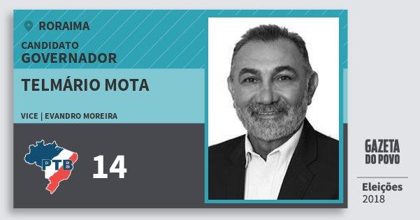 Santinho Telmário Mota 14 (PTB) Governador   Roraima   Eleições 2018