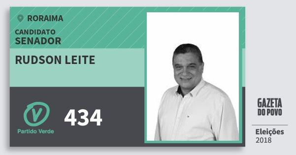 Santinho Rudson Leite 434 (PV) Senador | Roraima | Eleições 2018