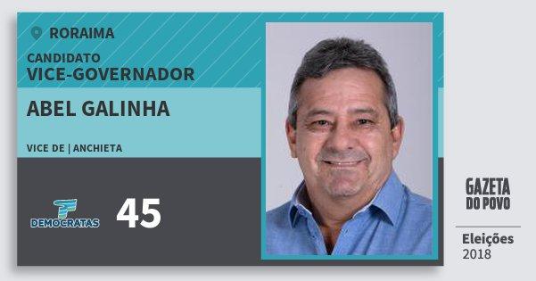 Santinho Abel Galinha 45 (DEM) Vice-governador | Roraima | Eleições 2018
