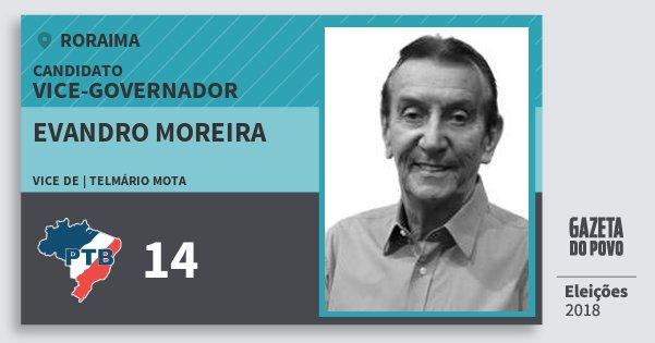 Santinho Evandro Moreira 14 (PTB) Vice-governador | Roraima | Eleições 2018