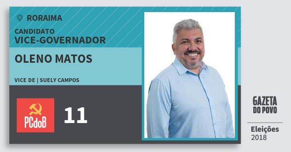 Santinho Oleno Matos 11 (PC do B) Vice-governador | Roraima | Eleições 2018