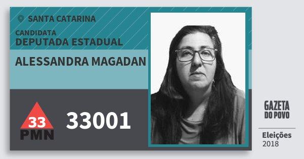 Santinho Alessandra Magadan 33001 (PMN) Deputada Estadual | Santa Catarina | Eleições 2018